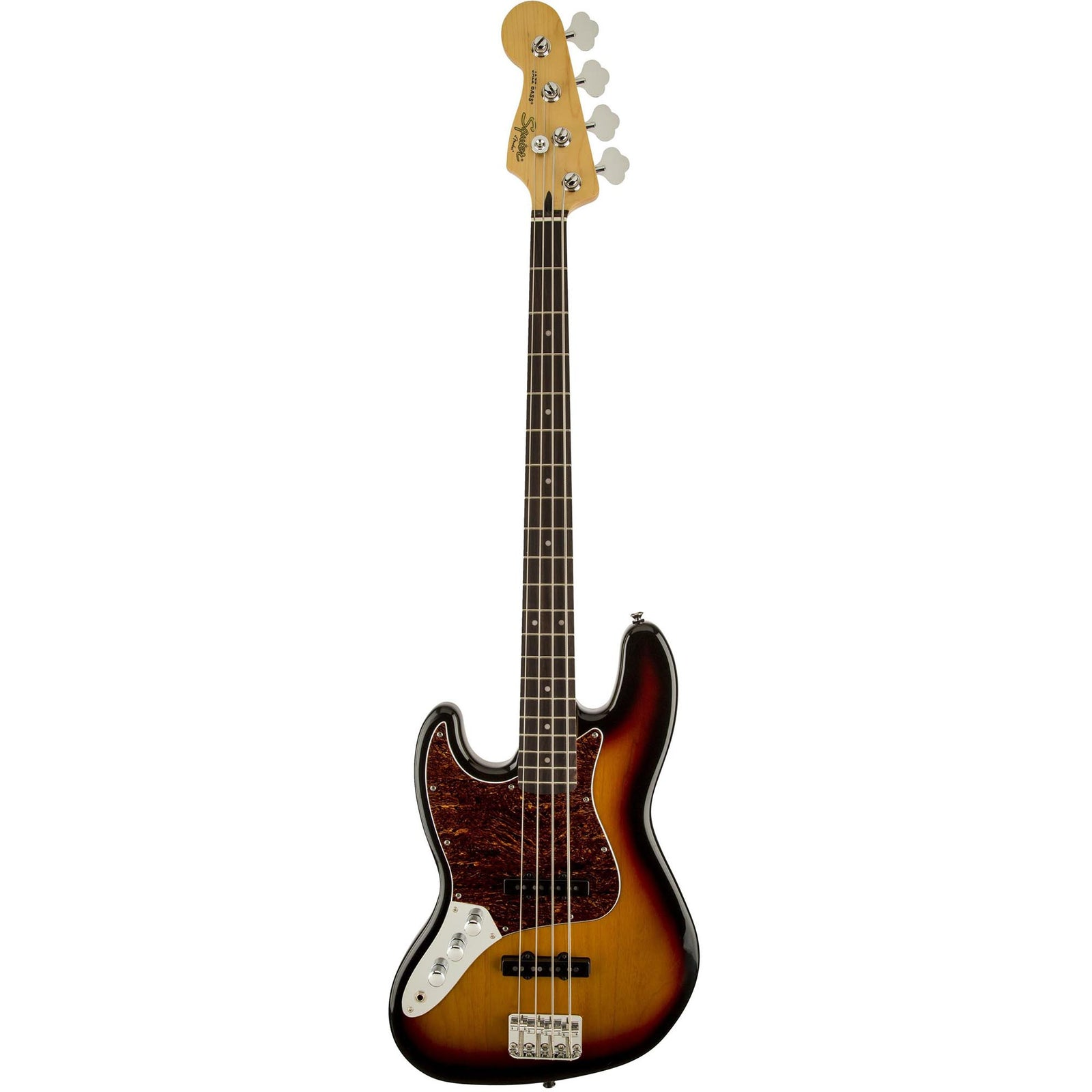 Squier Vintage Modified Jazz Bass Left-Handed - Indian Laurel - 3-Color Sunburst