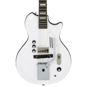 Supro Americana Series White Holiday Guitar - Dawn White