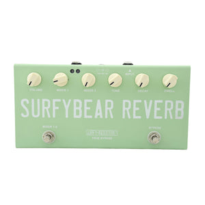 Surfybear Compact Reverb Pedal Surf Green