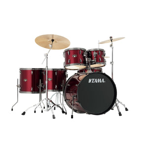 Tama 6 Piece Imperialstar Kit - Meinl HCS Cymbals Vintage Red Finish Black Nickel Hardware