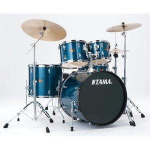 Tama IP52NCHLB 5 Piece Imperialstar Kit With Meinl HCS Cymbals - Hairline Blue