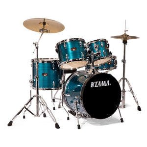 Tama IP58NCHLB 5 Piece Imperialstar Kit With Meinl HCS Cymbals - Hairline Blue