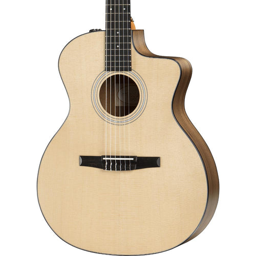 Taylor 114CE-N Nylon Grand Auditorium Walnut / Sitka with Electronics - Natural