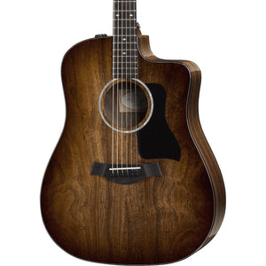 Taylor 220CE Deluxe Series All Koa Cutaway Dreadnought