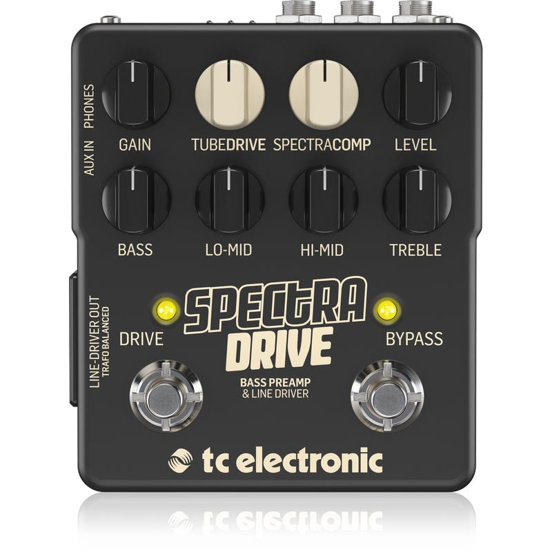 TC Electronic Spectradrive Bass Preamp & Drive Pedal With Built-In Tubedrive