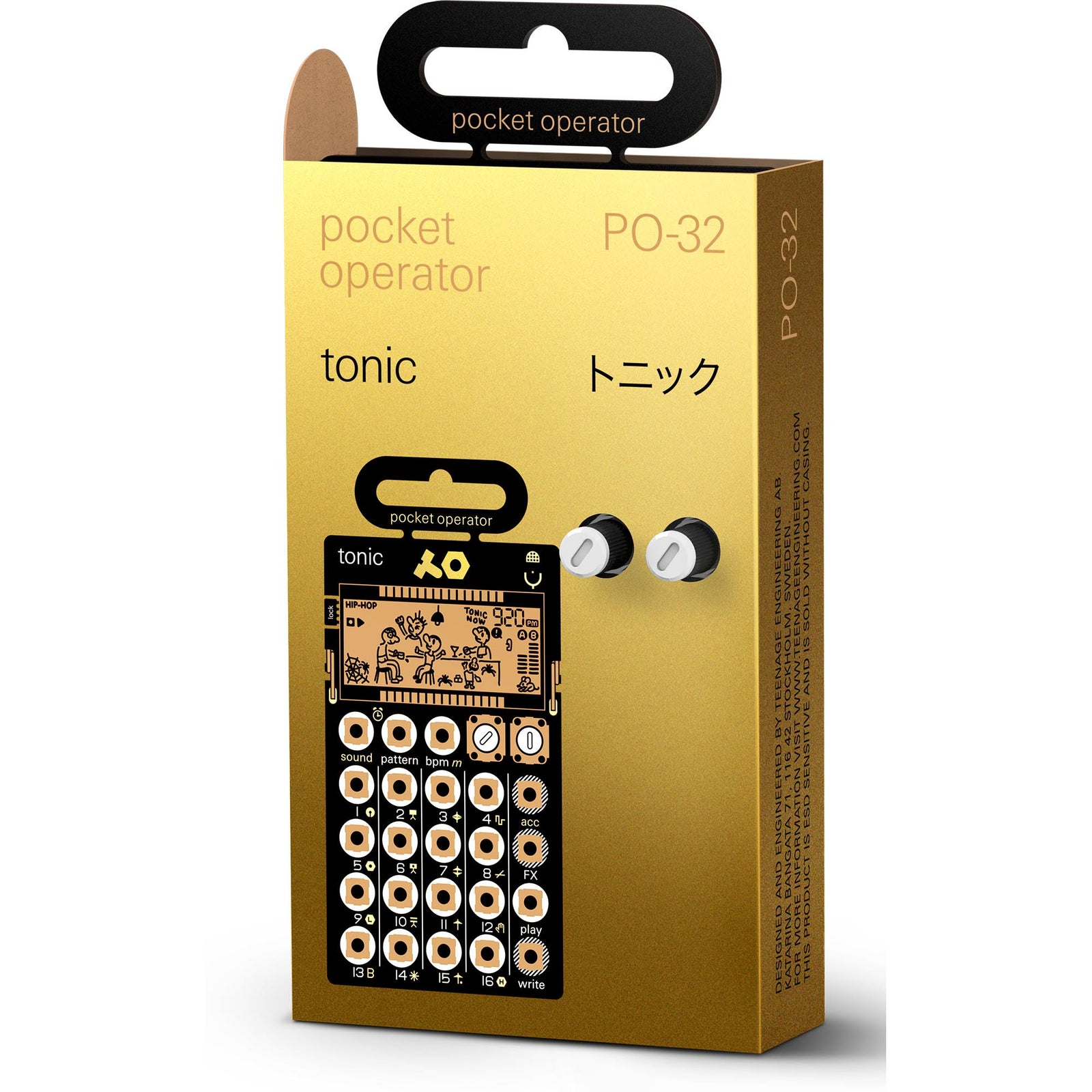 Teenage Engineering Pocket Operator PO-32 Tonic - Drum Synthesizer