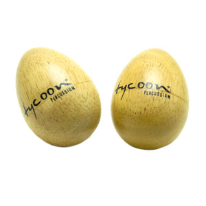 Tycoon Wooden Egg Shaker - Small Pair