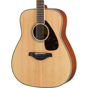 Yamaha 12 String Folk Guitar, Sitka Spruce Top, Mahogany Back/Sides, Die Cast Chrome Tuners, Natural