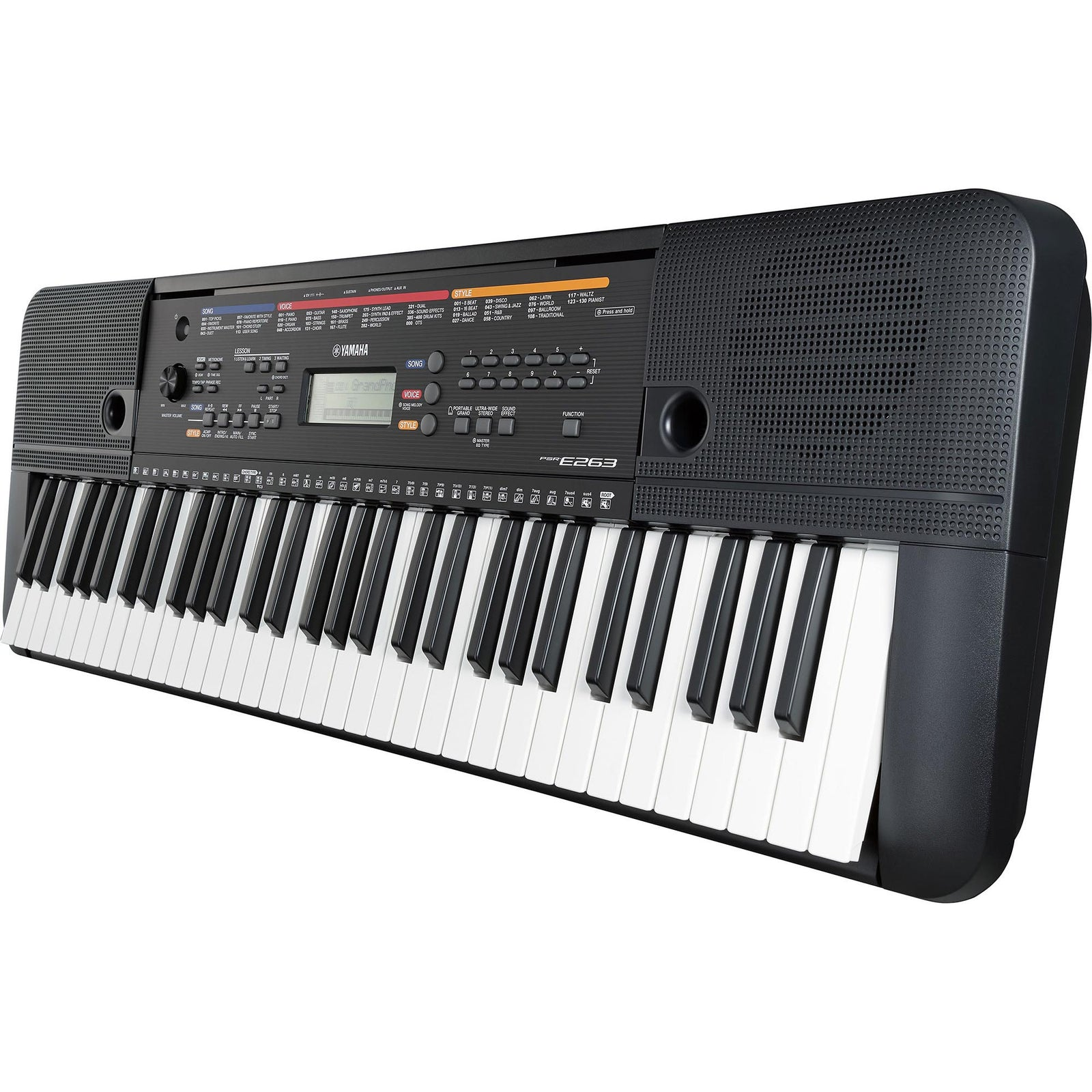 Yamaha PSR-E263 61-Key Entry-Level Portable Keyboard With Survival Kit
