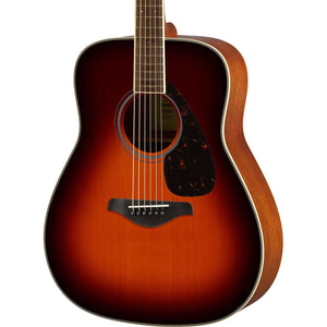 Yamaha Folk Guitar - Solid Sitka Spruce Top - Brown Sunburst