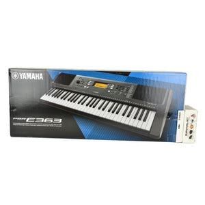 Yamaha PSR-E363 61-Key Entry-Level Portable Keyboard With B2 Survival Kit