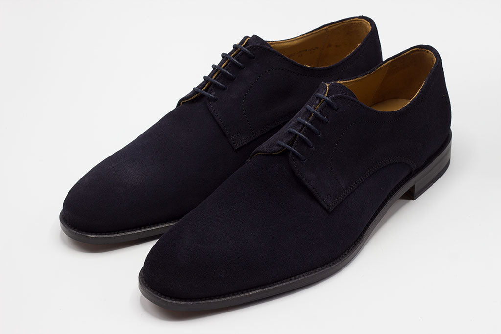 NAVY SOLE DERBY LACE UP WITH PLAIN TOE
