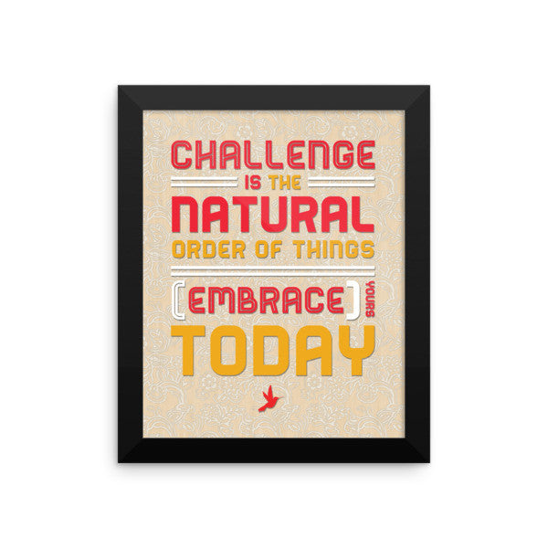 Challenge Framed Photo Poster - Seeing True
