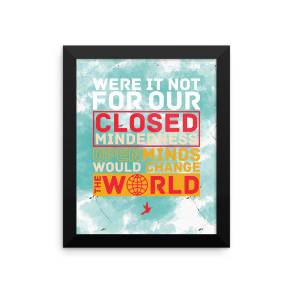 Open Minds Framed Photo Paper Poster - Seeing True