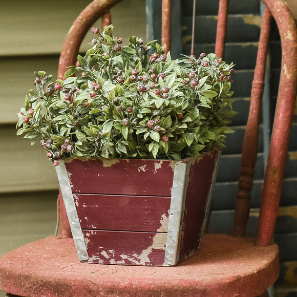 Red Shiplap Planter