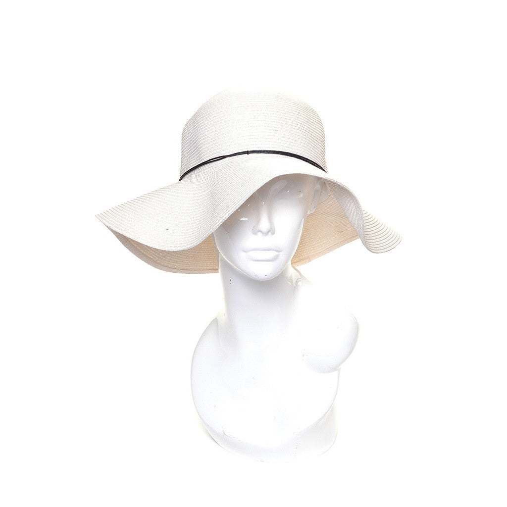 Packable Ivory Floppy Wide Brim Sun Hat