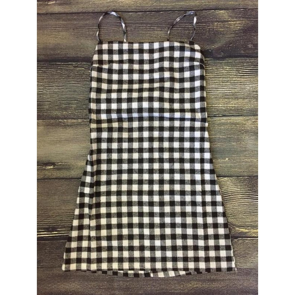 'Check Mate' Tie Back Dress