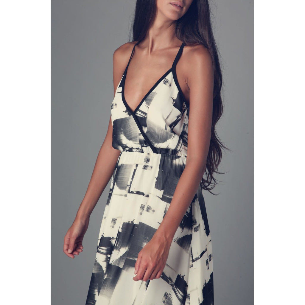 Cami maxi dress in abstract print