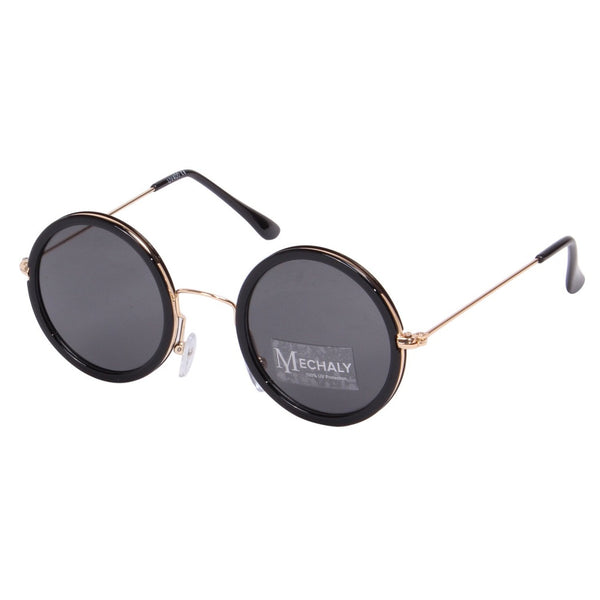 Mechaly Round Style Black Sunglasses
