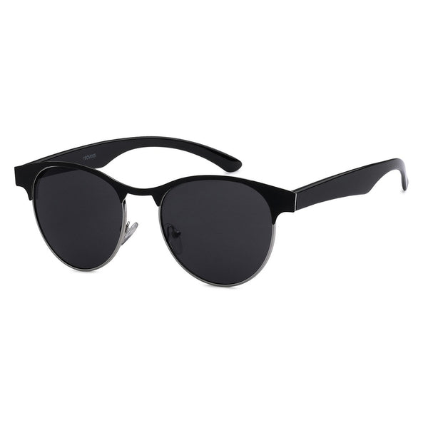 Mechaly Square Style Sunglasses with Black Frame & Black Lens