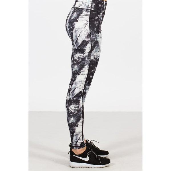 Paint Printed Athletic Leggings