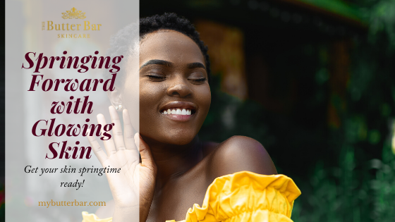 Springing Forward with Glowing Skin