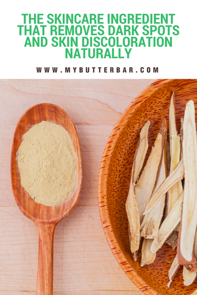 Licorice root for hyperpigmentation