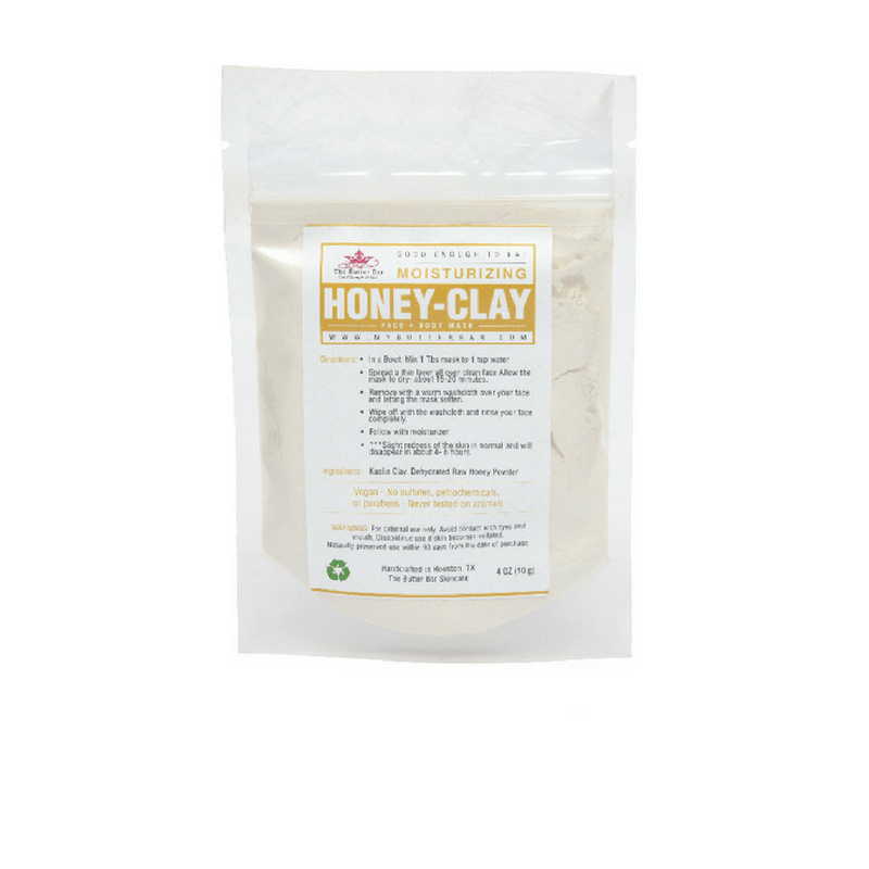 Honey-Clay Brightening & Moisturizing Mask - Natural Skincare