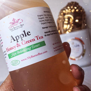 Apple, Honey and Green Tea Face Toner - The Butter Bar:100% Natural Skincare