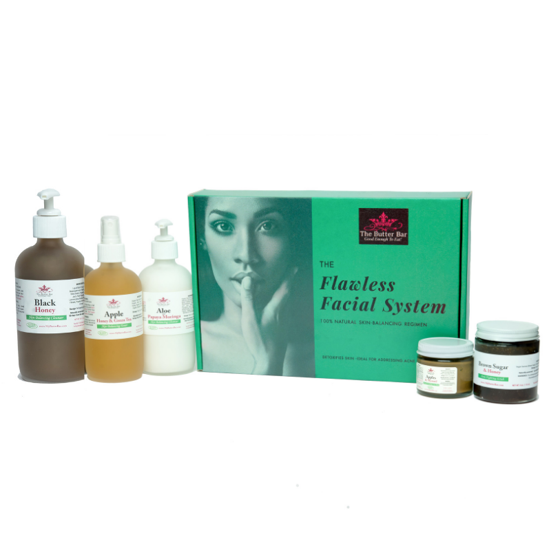 The Flawless Facial System Acne Kit (for Dry/Normal/Combination Skin) - Natural Skincare