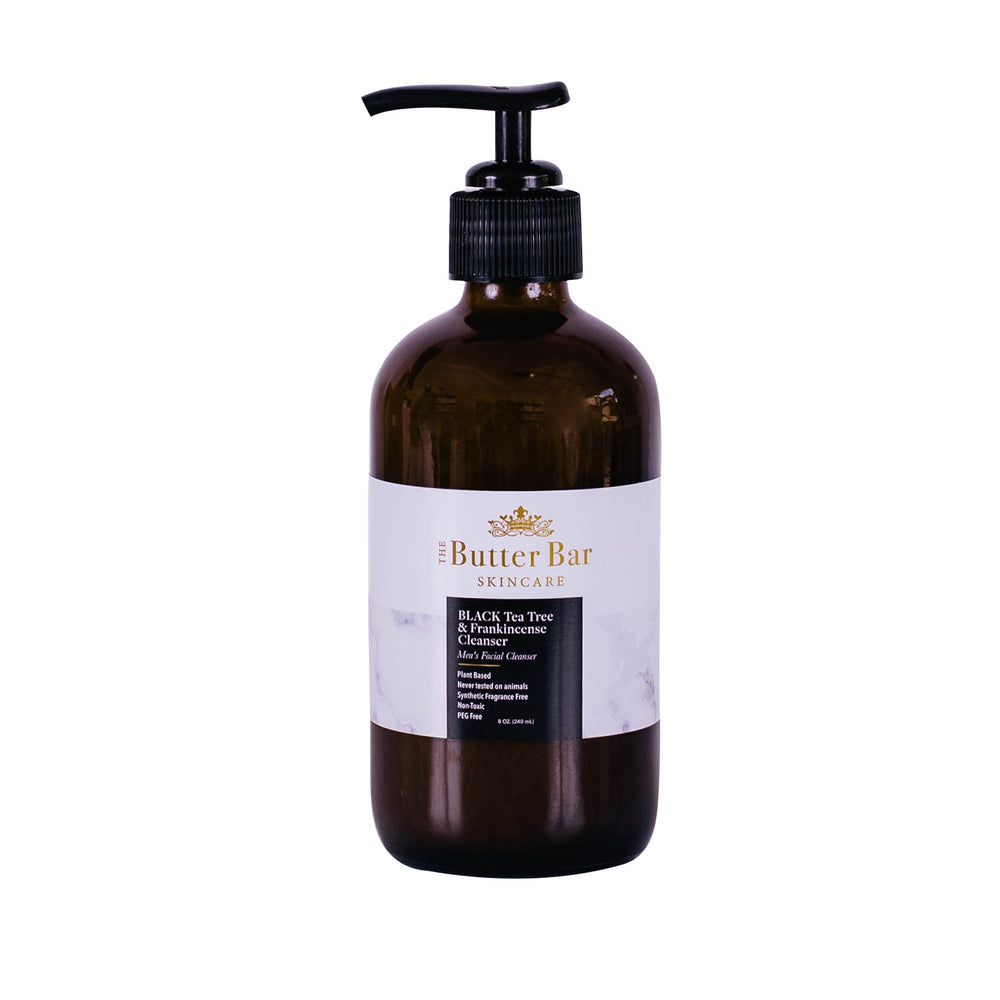 BLACK Tea Tree & Frankincense Men's Facial Cleanser - Natural Skincare