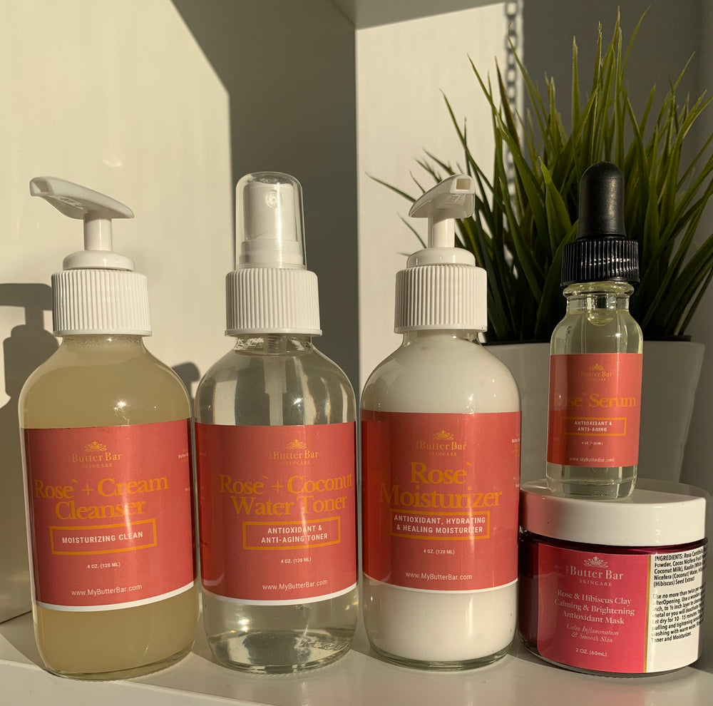 Rose & Coconut Water Youthful Glow Bundle Set