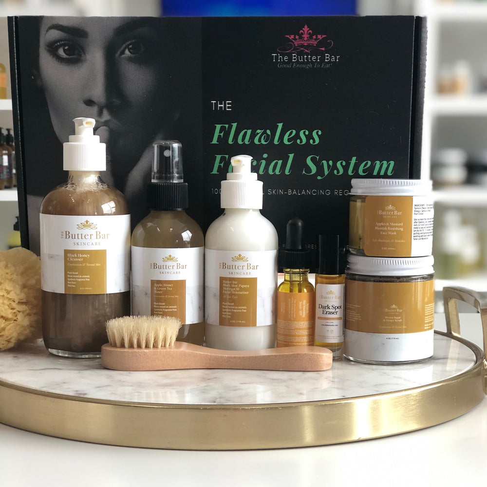 The Flawless Facial System-COMPLETE Acne & Hyperpigmentation kit (for Dry/Normal/Combination Skin)