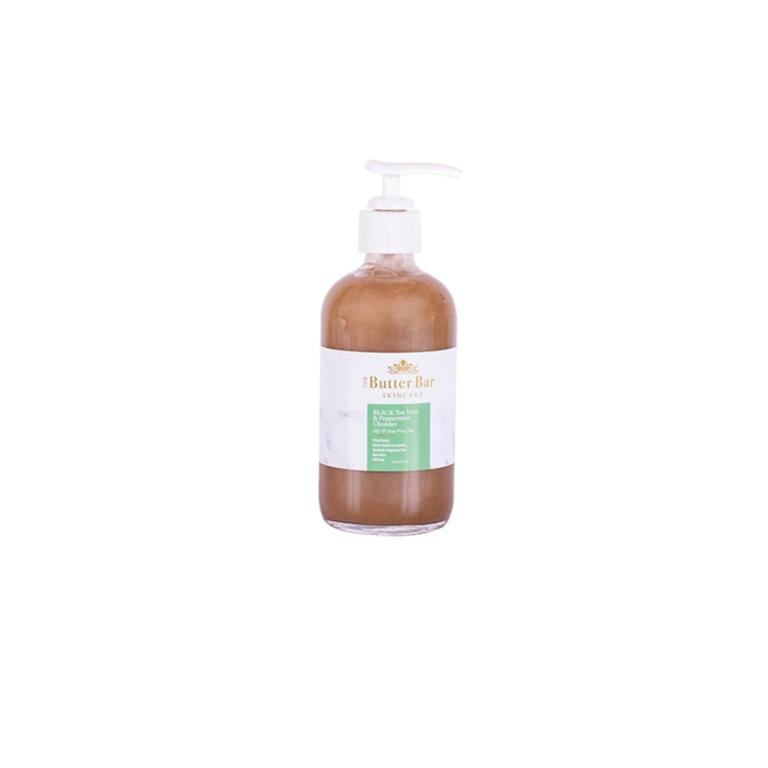 Black Tea Tree and Peppermint Acne Cleanser (Oily Acne-Prone Skin) - Natural Skincare