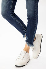 Kan-Can-Button Fly ankle skinny