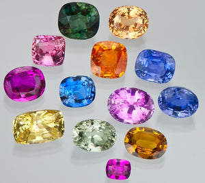 Fancy Sapphires - Photo Courtesy of GIA