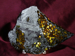 Example of Peridot in a Pallasite Meteorite