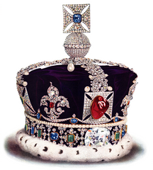 The British Crown with The Black Prince's Ruby
