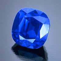 3.03-ct Kashmir sapphire. Photo Courtesy of Tino Hammid ©1986