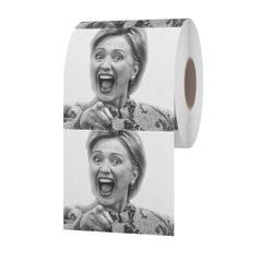 Hillary Clinton Toilet Paper By Cletus Stankton