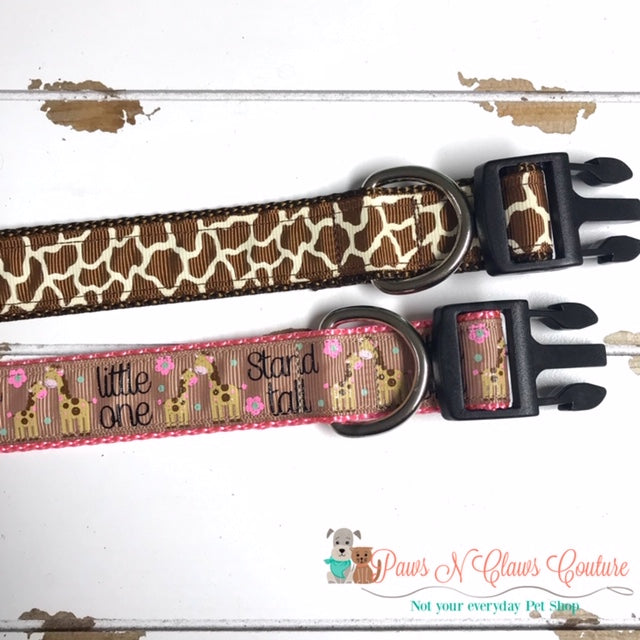 "1"" Stand Tall or Animal Print Dog Collar - Paws N Claws Couture"