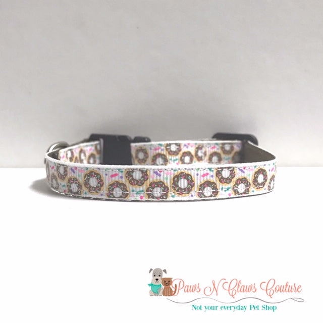 "3/8"" Mini Donuts Cat or Small Dog Collar - Paws N Claws Couture"