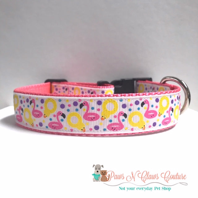 "1"" Pool Time Dog Collar - Paws N Claws Couture"