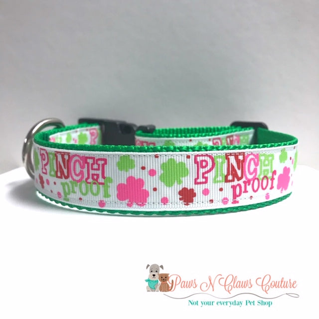 "1"" Pinch Proof Dog Collar - Paws N Claws Couture"