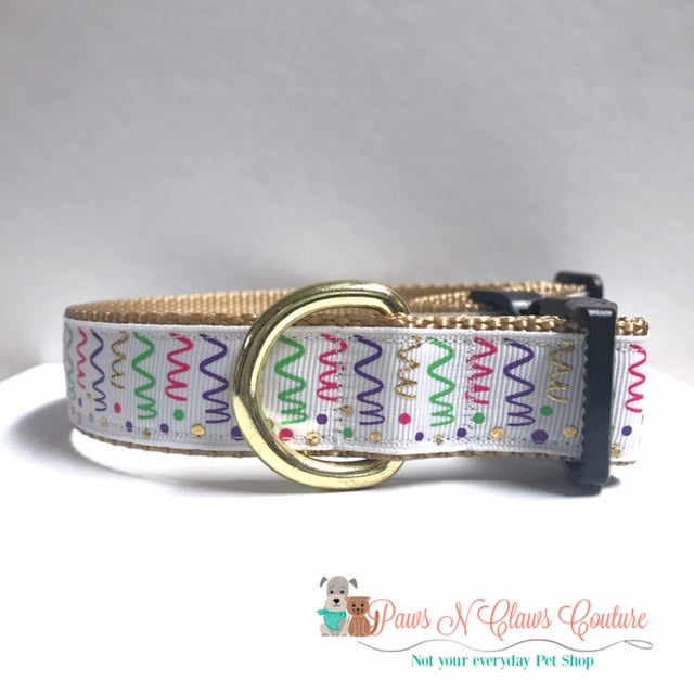 "1"" Foil Confetti Dog Collar - Paws N Claws Couture"