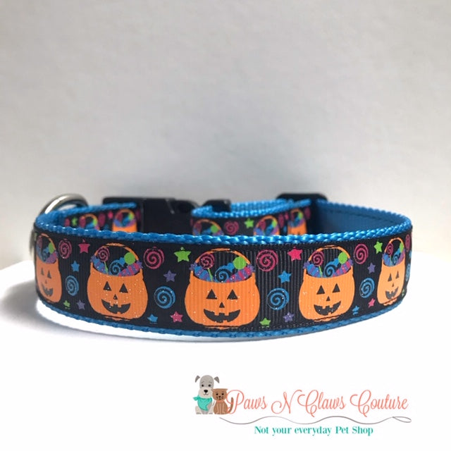 "1"" Buckets of Candy Dog Collar - Paws N Claws Couture"