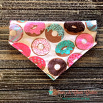 Sweet Donuts Scarf or Bandana - Paws N Claws Couture