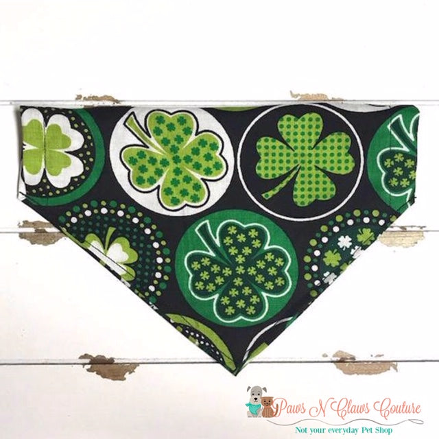 Lucky Clover Bandana - Paws N Claws Couture