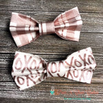 Rose Gold Metallic Bow Ties - Paws N Claws Couture