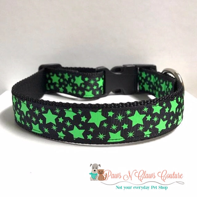 "1"" Glow in the Dark Stars Dog Collar"